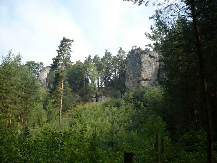 Příhrazské skály pod Hynštou